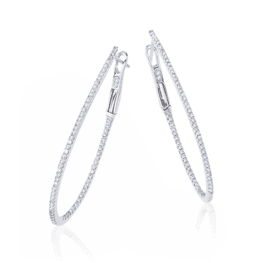 14k diamond hoop earrings cer242
