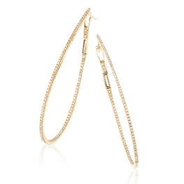14k diamond hoop earrings de13116