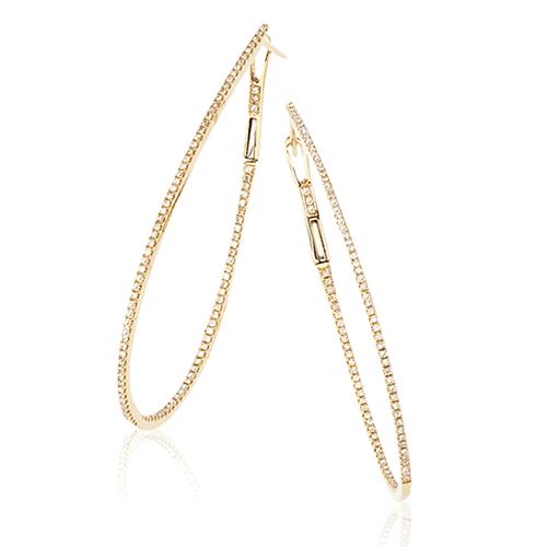 14k diamond hoop earrings de13116