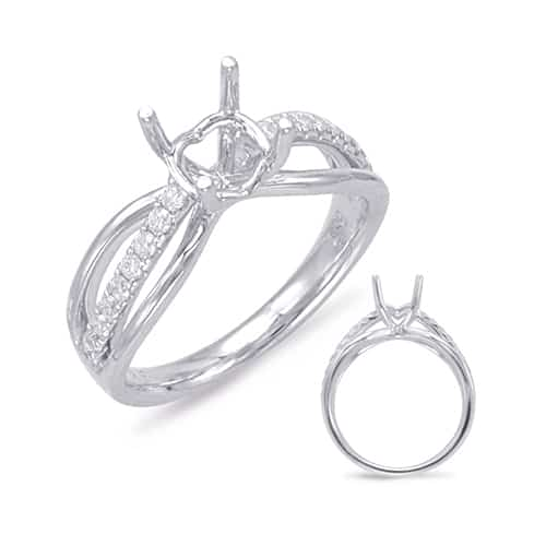 S. Kashi and Sons 14K White Gold Round Diamond Engagement Ring.