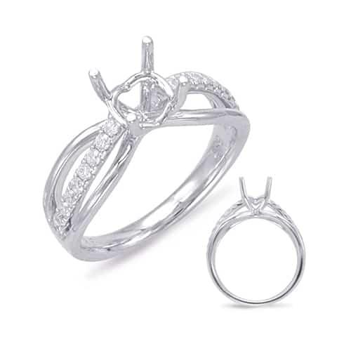 S Kashi And Sons 14k White Gold Round Diamond Engagement