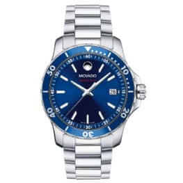 Movado Men's Series 800 watch, Blue Bezel & Dial