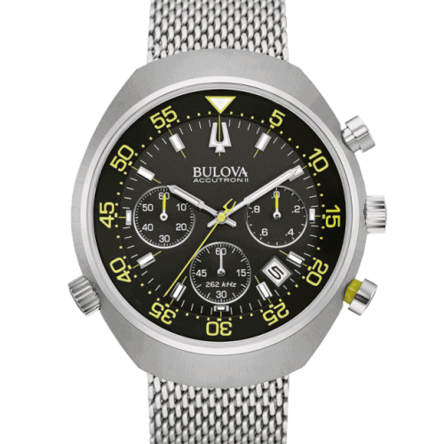 Bulova Accutron II, Lobster, Mesh Bracelet, Chronograph