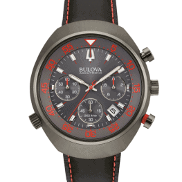 Bulova Accutron II, Lobster, Black, Leather Strap