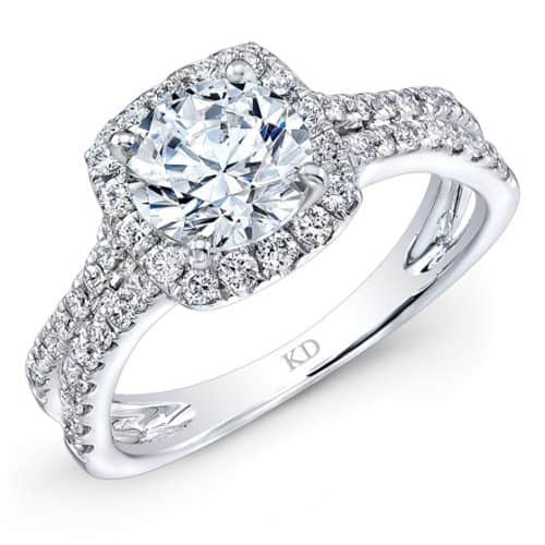 INSPIRED HALO DIAMOND ENGAGEMENT RING