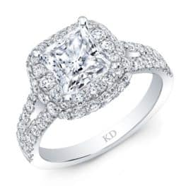 DOUBLE HALO ENGAGEMENT RING, by KATTAN
