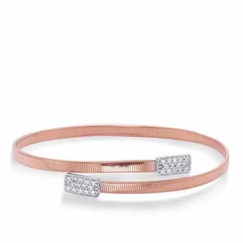 S. Kashi Rose Gold Bangle Italian Made (B4449RW)