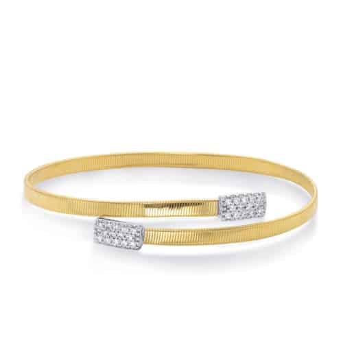 S. Kashi White Gold Bangle Italian Made (B4449YW)