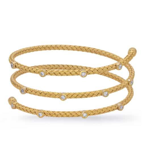 S. Kashi White Gold Bangle Italian Made (B4452YG)