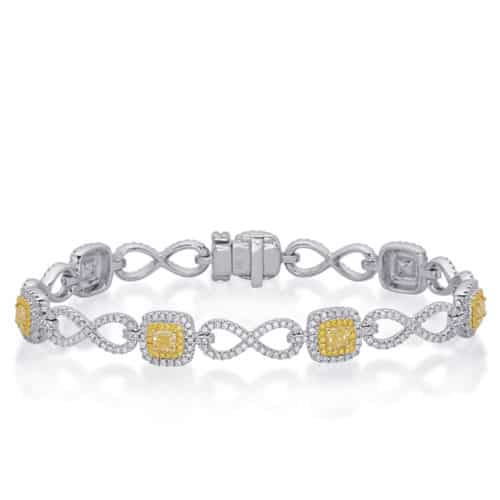 S. Kashi 18K Yellow & White Gold Yellow Diamond Bracelet (B4453YDYW)