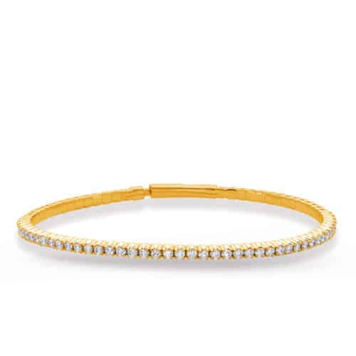 S. Kashi Yellow Gold Flexible Bangle Bracelet (B4456-1.7MYG)