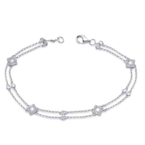 S. Kashi White Gold Diamond By The Yard Bracelet (B4457WG)