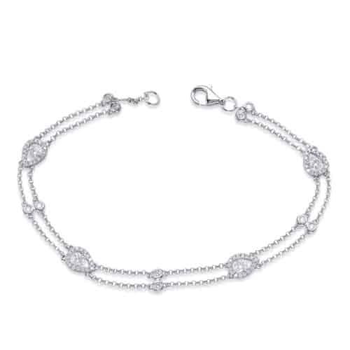 S. Kashi White Gold Diamond By The Yard Bracelet (B4458WG)