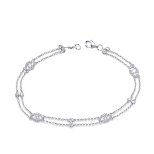 S. Kashi White Gold Diamond By The Yard Bracelet (B4459WG)