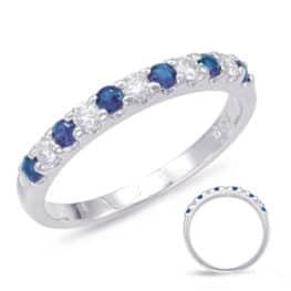 S. Kashi Sapphire & Diamond Band (C6708-SWG)