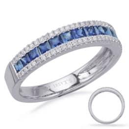 S. Kashi White Gold Sapphire & Diamond Ring (C7656-SWG)