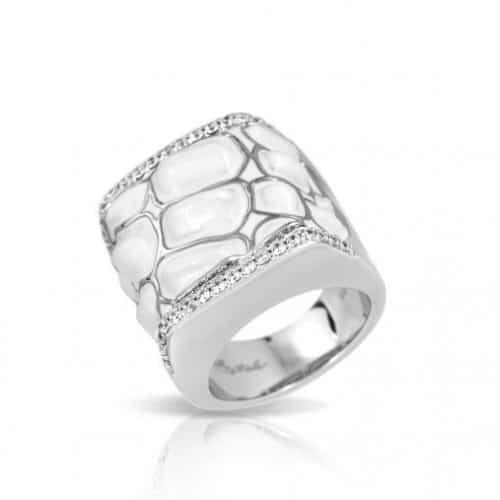 Belle etoile Coccodrillo White Ring