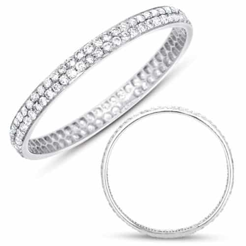 S. Kashi White Gold Pave Band (D4228-8WG)