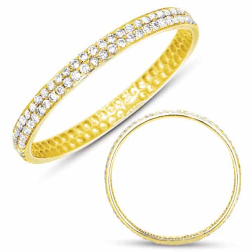 S. Kashi Yellow Gold Pave Band (D4228-8YG)