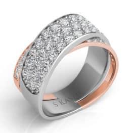 S. Kashi Rose & White Gold Diamond Fashion Ring (D4271RW)