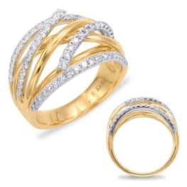 S. Kashi Yellow & White Gold Fashion Ring (D4383YW)