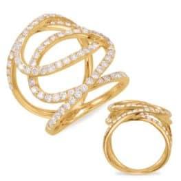 S. Kashi Yellow Gold Diamond Fashion Ring (D4405YG)