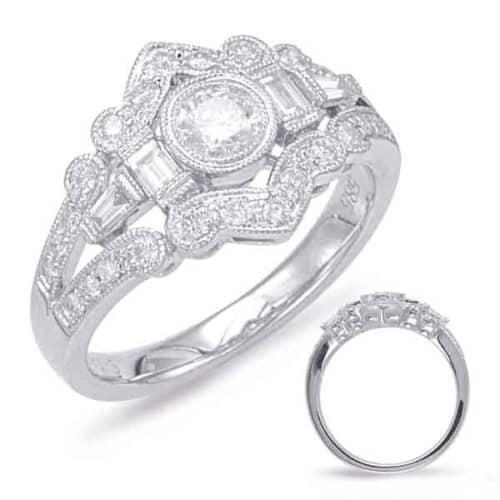 S. Kashi White Gold Diamond Fashion Ring (D4544WG)