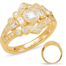 S. Kashi Yellow Gold Diamond Fashion Ring (D4544YG)