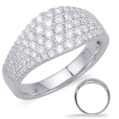 S. Kashi White Gold Diamond Fashion Ring (D4585WG)