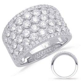 S. Kashi White Gold Diamond Fashion Ring (D4627WG)