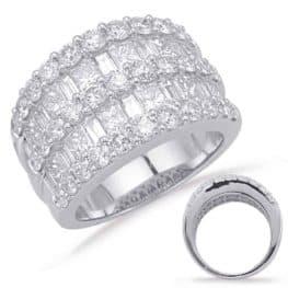 S. Kashi White Gold Diamond Fashion Ring (D4629WG)