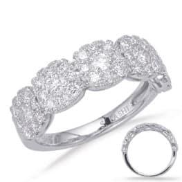 S. Kashi White Gold Diamond Fashion Ring (D4635WG)