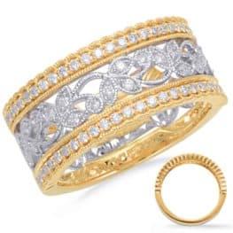 S. Kashi Yellow & White Gold Diamond Fashion Ring (D4665YW)
