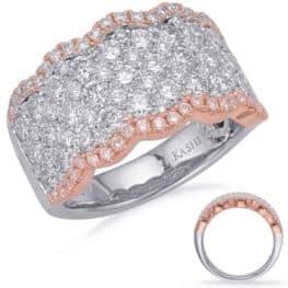 S. Kashi Rose & White Gold Diamond Fashion Ring (D4677RW)