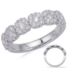 S. Kashi White Gold Diamond Fashion Ring (D4684WG)