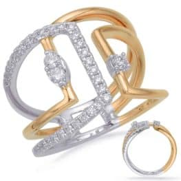 S. Kashi Yellow & White Gold Diamond Fashion Ring (D4687YW)