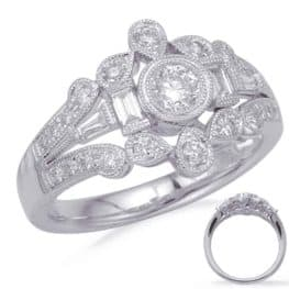 S. Kashi White Gold Diamond Fashion Ring (D4710WG)