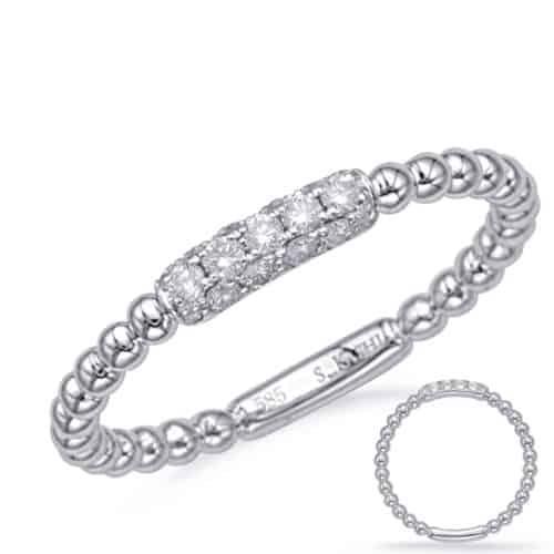 S. Kashi White Gold Diamond Fashion Ring (D4721WG)