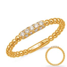 S. Kashi Yellow Gold Diamond Fashion Ring (D4721YG)