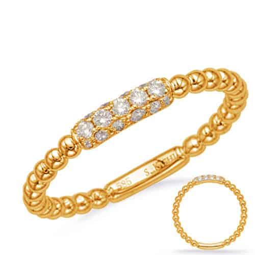 S. Kashi Yellow Gold Diamond Fashion Ring (D4721YG)