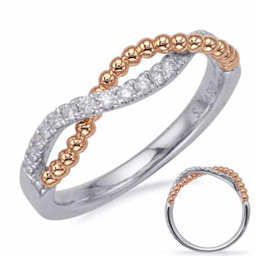 S. Kashi Rose & White Gold Diamond Fashion Ring (D4722RW)