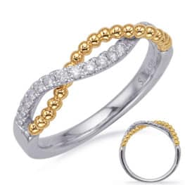 S. Kashi Yellow & White Gold Diamond Fashion Ring (D4722YW)