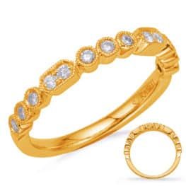 S. Kashi Yellow Gold Diamond Fashion Ring (D4723YG)