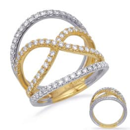 S. Kashi Yellow & White Gold Diamond Fashion Ring (D4726YW)