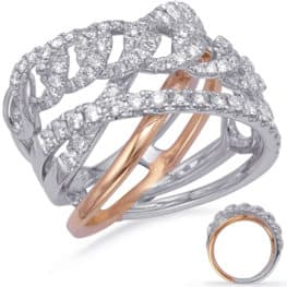 S. Kashi Rose & White Gold Diamond Fashion Ring (D4727RW)