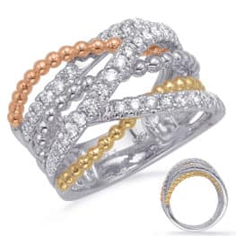 S. Kashi Rose & Yellow & White Gold Diamond Fashi (D4728RYW)