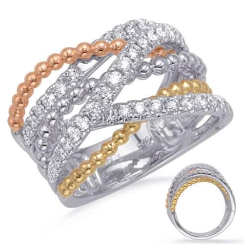 S. Kashi Rose & Yellow & White Gold Diamond Fashi (D4728RYW)