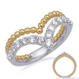 S. Kashi Yellow & White Gold Diamond Fashion Ring (D4729YW)