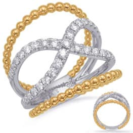 S. Kashi Yellow & White Gold Diamond Fashion Ring (D4731YW)