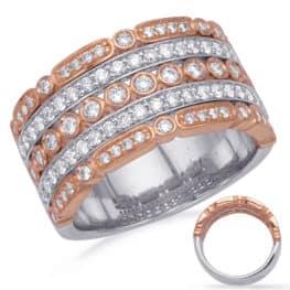 S. Kashi Rose & White Gold Diamond Fashion Ring (D4732RW)